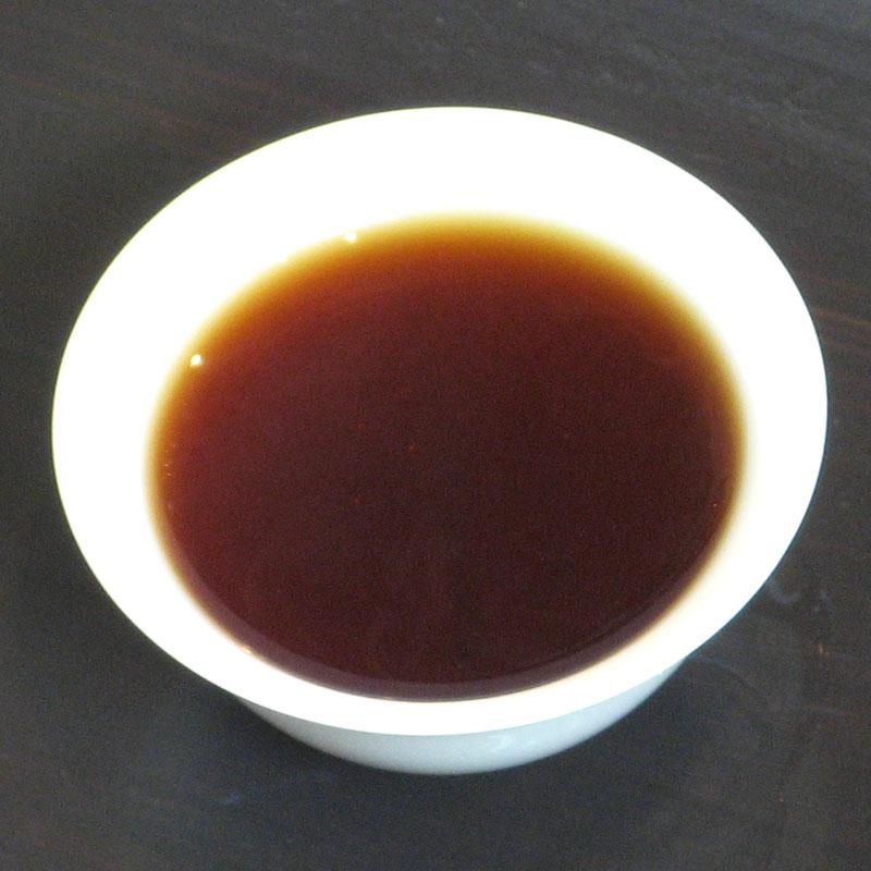瀾滄江熟茶磚1995年茶湯