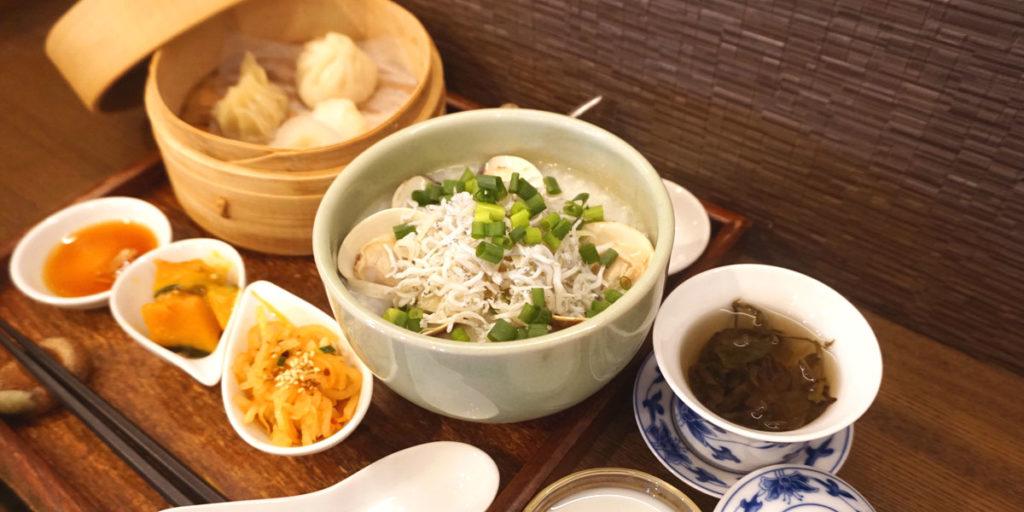 蛤としらすの中華粥ランチセット