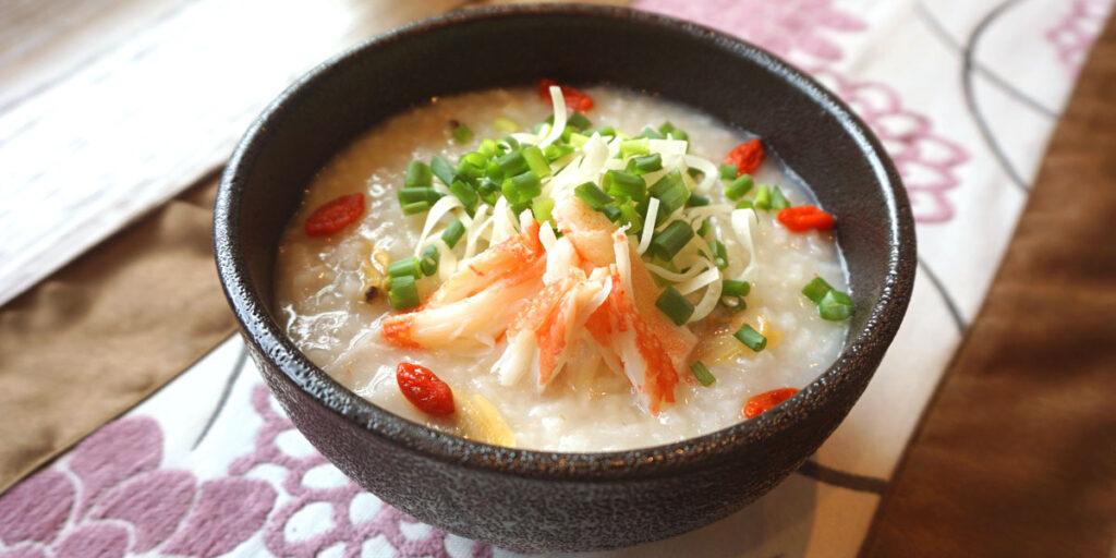 蟹とあさりの中華粥