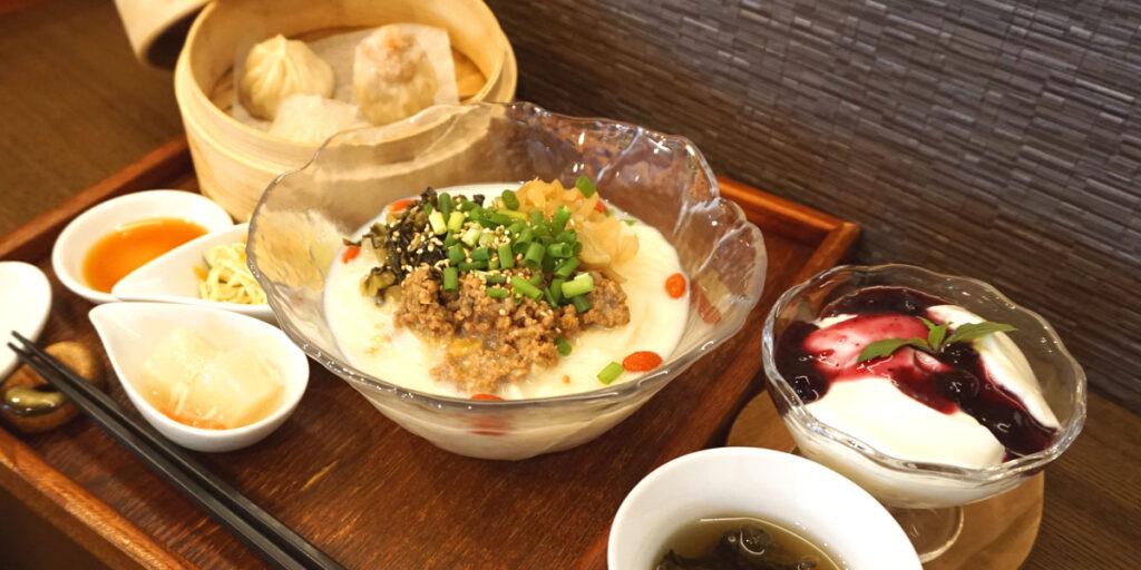 豆乳冷麺ディナーセット